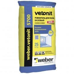 Ровнитель для пола базовый Weber.Vetonit 5700 25кг