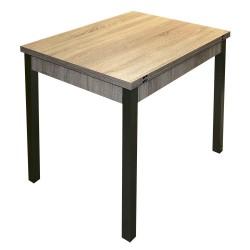 Стол обеденный раскладной ЛДСП (0,79*0,59) ножки металл Сонома (с-5890)