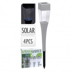 Лампа солярная, от солнечного света и аккумулят. батарей (1хааа), наб. 4 шт,  4,9*4,9*37,8 см
