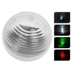 Лампа садовая в форме шара с LED, работает от батарей 1ХААА, d8,5см