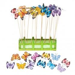 Украшение на ножке Летающие бабочки 8*31,5см, дерево 66964