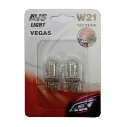 Лампа автомобильная AVS Vegas 12V. 21W 2шт (BAU15S) A78472S