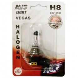 Лампа галогенная AVS Vegas H8.12V.35W 1шт A78484S