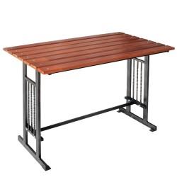 Стол садовый Мадрид 1,2м сосна, сталь