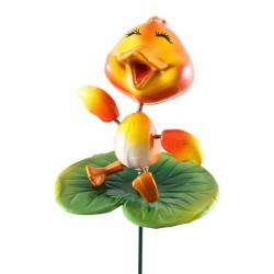 Штекер садовый Утенок на цветке GS-AR3158-5 2062