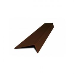 L-профиль алюминий Каштан 3 метра
