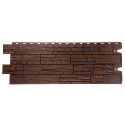 Панель фасадная 1,196*0,426м Docke Stein Тёмный орех