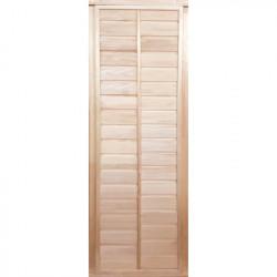 Дверь глухая с фольгой  1,9х0,7 м., липа Класс Б, коробка из липы