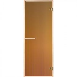 Дверь для сауны 1900*700 стекло, бронза прозр., коробка из сосны, в сборе