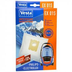 Комплект пылесборников 4шт+2фильтра Vesta filter EX 01 S