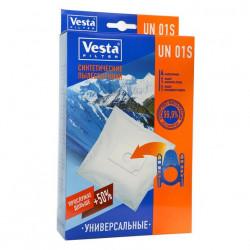 Комплект пылесборников Универсальный 4шт+2фильтра Vesta filter UN 01 S