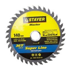 Диск пильный по дереву 140*36зуб*20 SUPER-Line MASTER STAYER