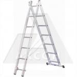 Лестница 2 секции по  9 ступеней, макс. высота 4,20м, 150кг Алюмет 5209