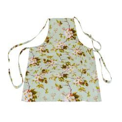 Фартук с карманом (рогожка 18715 Яблоневый сад Мята)