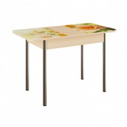 Стол обеденный раздвижной ЛДСП Фотопечать Венге светлый/Нежность (0,9х0,6х0,75)