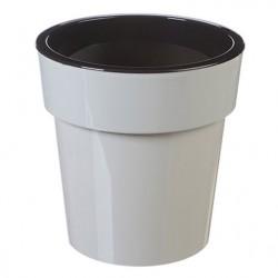 Горшок пластиковый ТУБУС 250мм белый