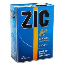 Масло моторное 10W40 4л полусинтетическое SM/CF A+ ZIC