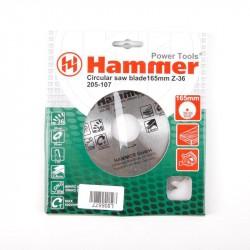 Диск пильный по дереву 165*36зуб*30/20мм CSB WD Hammer Flex 205-107