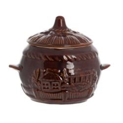 Горшочек для запекания ОБЖОРА коричневый SL01