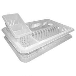 Сушилка для посуды с поддоном ЛИЛИЯ 1-а ярусная + сушилка для столовых приборов ПЦ1562