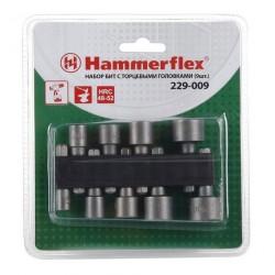 Набор бит с торцевыми головками /9шт/ 5,6,7,8,9,10,11,12,13мм Hammer Flex 229-009