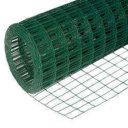 Сетка сварная из ОЦ проволоки d=1,6мм, с ПВХ покрытием, ячейка 50х50мм, 1,8х15м