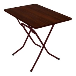 Стол складной СРП-С-103-01 каркас черный (венге, кант венге) 1,2*0,8*0,75