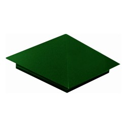 Колпак на забор тип1 400*400мм ПЭ RAL 6005 (зеленый)