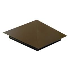 Колпак на забор тип1 400*400мм ПЭ RAL 8017 (коричневый)