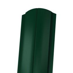 Штакетник ЕВРО фигурный 1800*130мм ПЭ  RAL 6005 (зеленый)