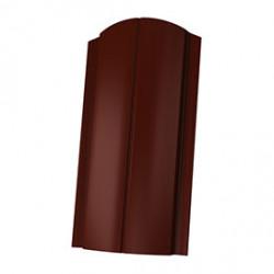Штакетник ЕВРО фигурный 1800*130мм ПЭ RAL RAL 8017 (коричневый)