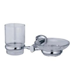 Держатель для стакана и мыльницы К-3026 хром Wasser Kraft
