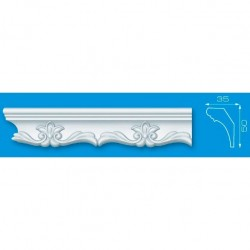Плинтус стиропор 14015 1,3м