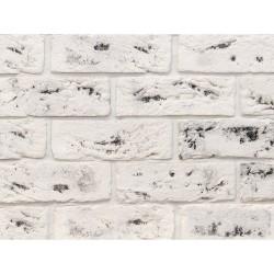 Камень интерьерный гипсовый 0245 Саман 200*65мм белый с темными вкраплениями  (уп 0,5м2)