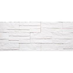 Камень интерьерный гипсовый 01 Боро 200*95мм белый (уп 0,5м2)