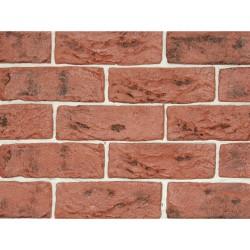Камень интерьерный гипсовый 0215 Саман 200*65мм темно-красный (уп 0,5м2)