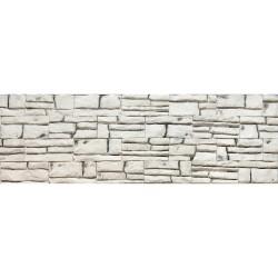 Камень интерьерный гипсовый 0617 Шато 150*70мм белый с темными вкраплениями  (уп 0,5м2)