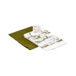 Комплект полотенец 35х55 (2шт) (Диагональ 98 отбеленный+Диагональ оливковый+печать Овощи)