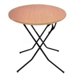 Стол складной СРП-С-104-03 каркас черный (орех, кант орех) d0,8*0,75