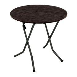 Стол складной СРП-С-104-03 каркас черный (венге, кант венге) d0,8*0,75