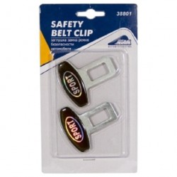 Заглушка замка ремня безопасности 2шт металл Nova Bright 38801