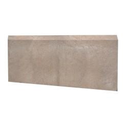 Камень бордюрный полимер серый