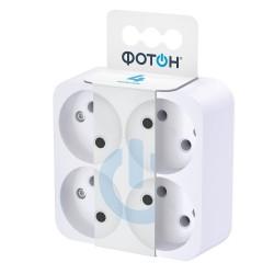 Разветвитель электрический (четверник) ФОТОН АМ 6-4, 6А