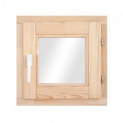 Окно деревянное с однокамерным стеклопакетом  580*580 мм