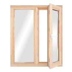 Окно деревянное с однокамерным стеклопакетом  960*970 мм