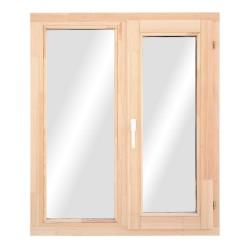 Окно деревянное с однокамерным стеклопакетом 1160*1170мм ОДОСП(45)12-12