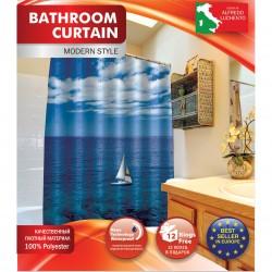 Шторка д/ванной Кораблик + набор колец PH15
