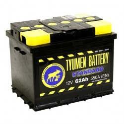 Аккумулятор Тюмень STANDARD 62 А/ч п.п. 6CT62L