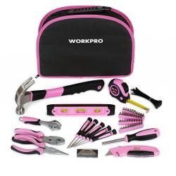 Набор инструментов в сумке  103 предмета, розовый LADY WORKPRO W009012,