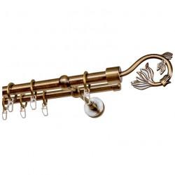 Карниз 681.D20 Ост двухрядный с/н Крокус 2,4м, бронза